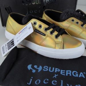 Superga Iridescent Gold Metallic Jocelyn Sneakers